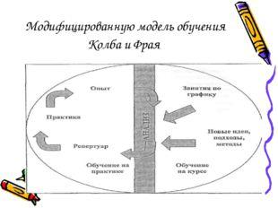 Модифицированную модель обучения Колба и Фрая
