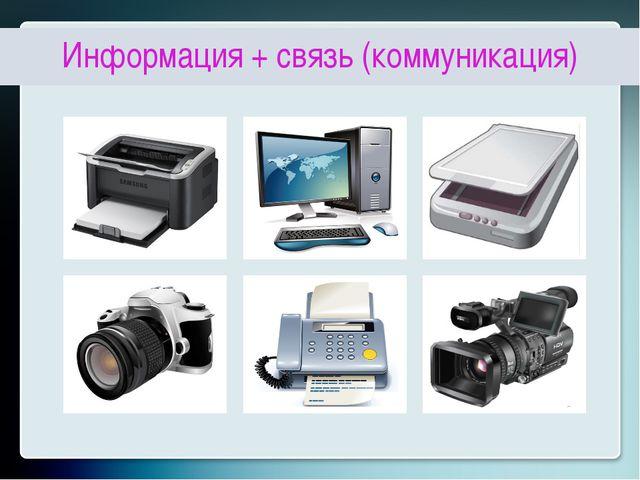 Информация + связь (коммуникация)