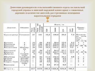 Донесение руководителя сельскохозяйственного отдела заславльской городской уп