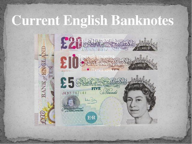 Current English Banknotes