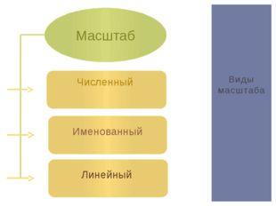 Виды масштаба Масштаб Численный Именованный Линейный
