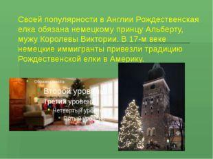 Своей популярности в Англии Рождественская елка обязана немецкому принцу Альб
