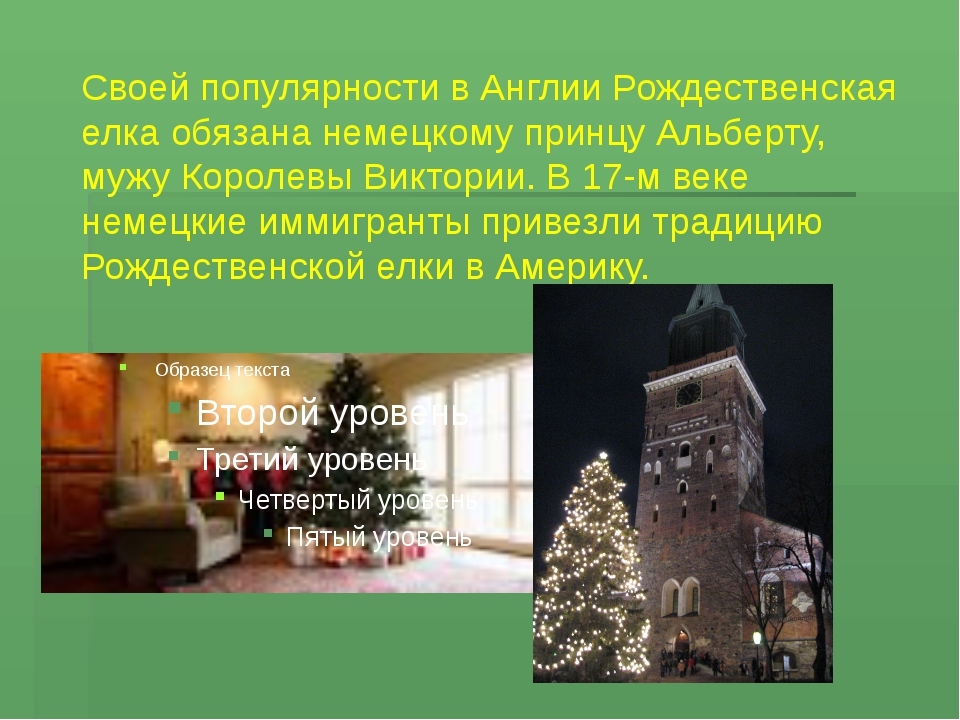 Своей популярности в Англии Рождественская елка обязана немецкому принцу Альб...
