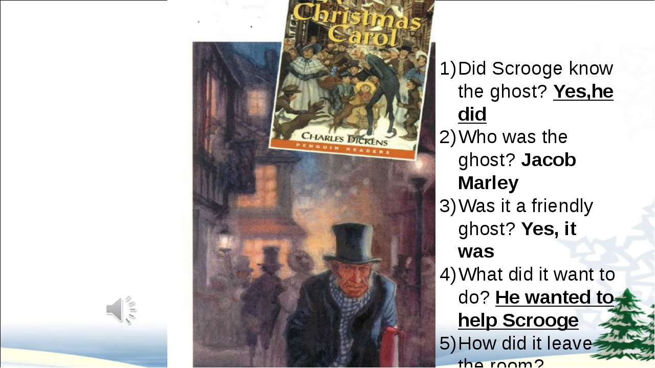 Did Scrooge know the ghost? Yes,he did Who was the ghost? Jacob Marley Was i...