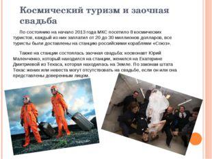 Космический туризм и заочная свадьба По состоянию на начало2013 годаМКС пос