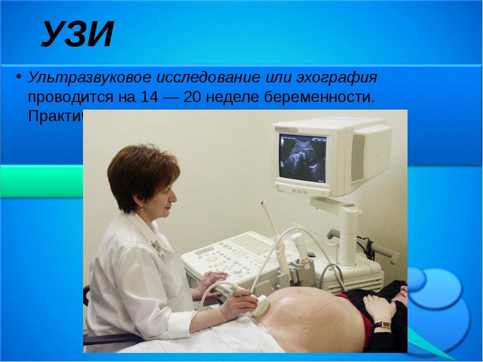 Ультразвуковое исследование или эхография проводится на 14 — 20 неделе береме...