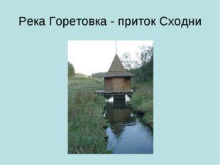 Река Горетовка - приток Сходни