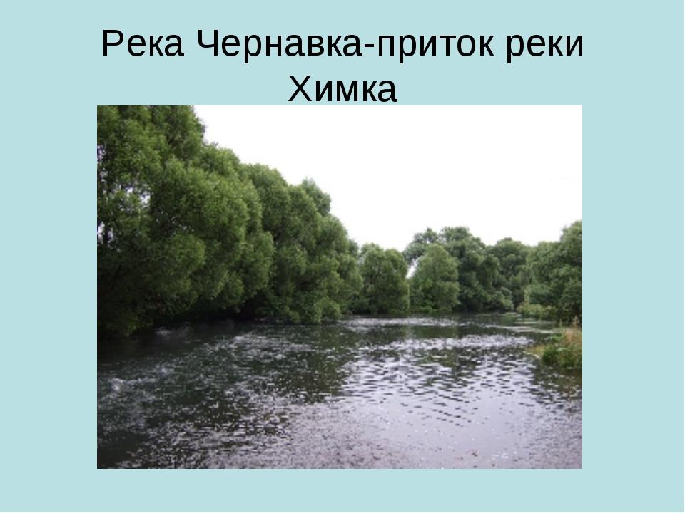 Река Чернавка-приток реки Химка