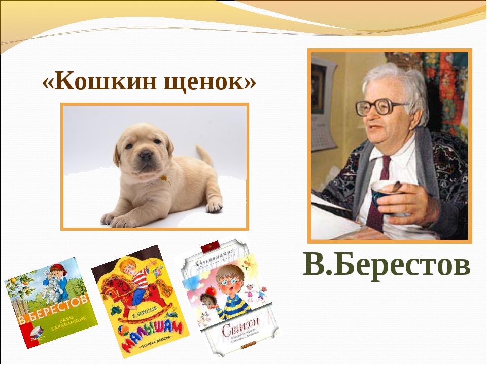 В.Берестов «Кошкин щенок»