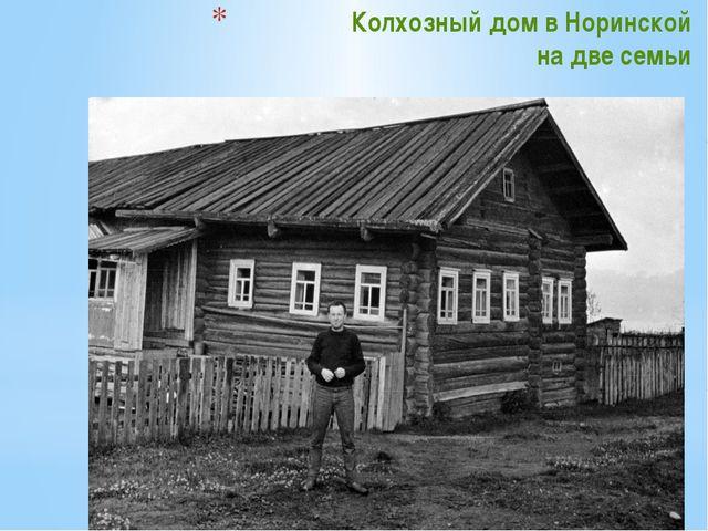 Колхозный дом в Норинской на две семьи