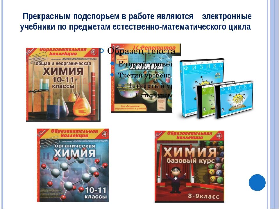 Прекрасным подспорьем в работе являются электронные учебники по предметам ес...