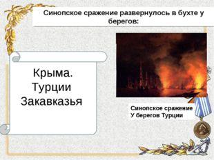 Синопское сражение развернулось в бухте у берегов: Крыма. Турции Закавказья
