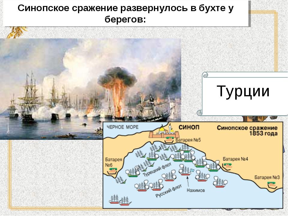 Синопское сражение развернулось в бухте у берегов: Турции