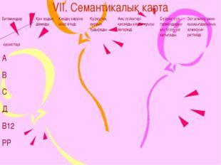 VII. Семантикалық карта