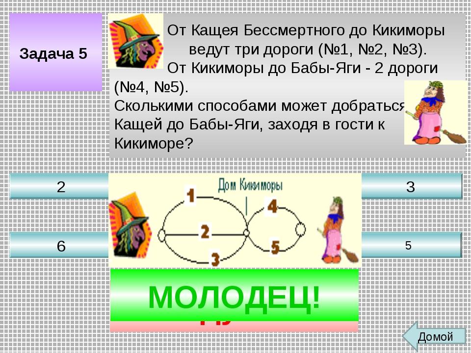 Задача 5 От Кащея Бессмертного до Кикиморы ведут три дороги (№1, №2, №3). От...