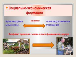 Социально-экономическая формация производительные силы производственные отно