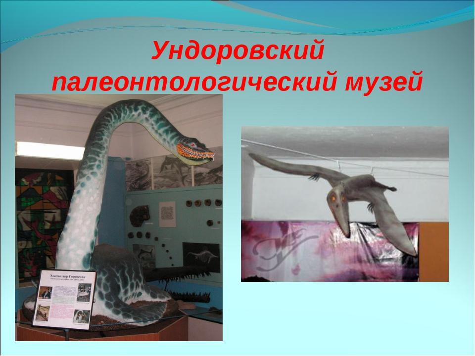 Ундоровский палеонтологический музей