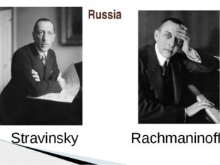 Russia Rachmaninoff Stravinsky