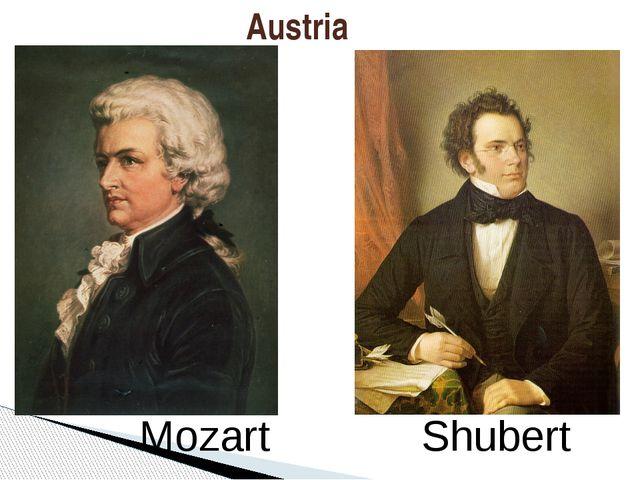 Austria Mozart Shubert