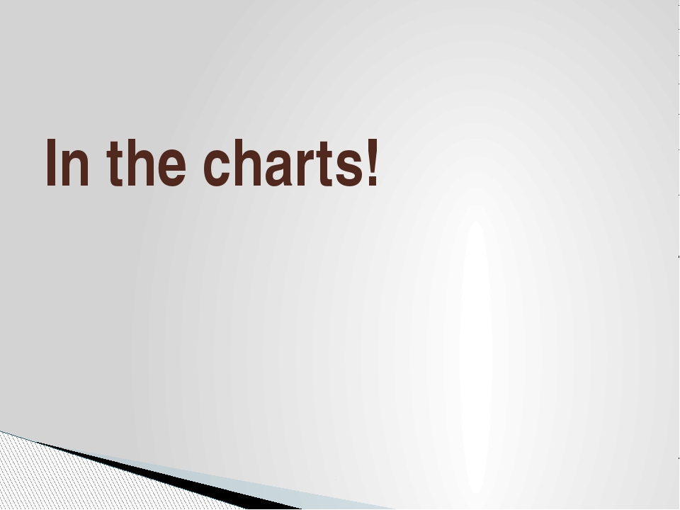 In the charts!