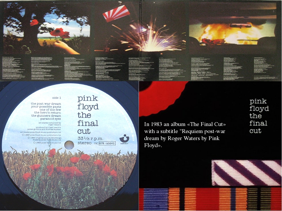 """In 1983 an album «The Final Cut» with a subtitle """"Requiem post-war dream by R..."""