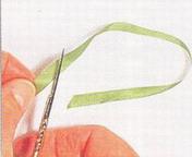 Подготовка лентык вышиванию