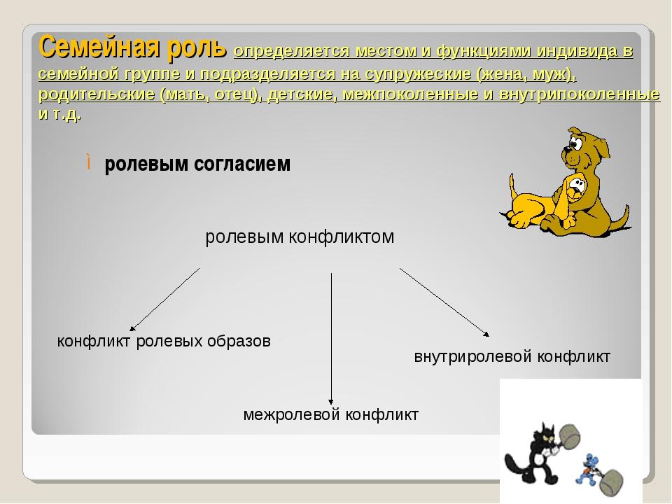Семейная роль определяется местом и функциями индивида в семейной группе и по...