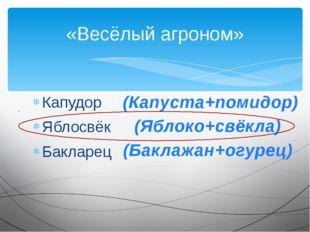 Капудор Яблосвёк Бакларец «Весёлый агроном» (Капуста+помидор) (Яблоко+свёкла)