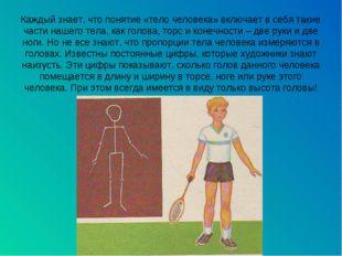 Каждый знает, что понятие «тело человека» включает в себя такие части нашего