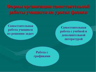 Формы организации самостоятельной работы учащихся на уроках физики