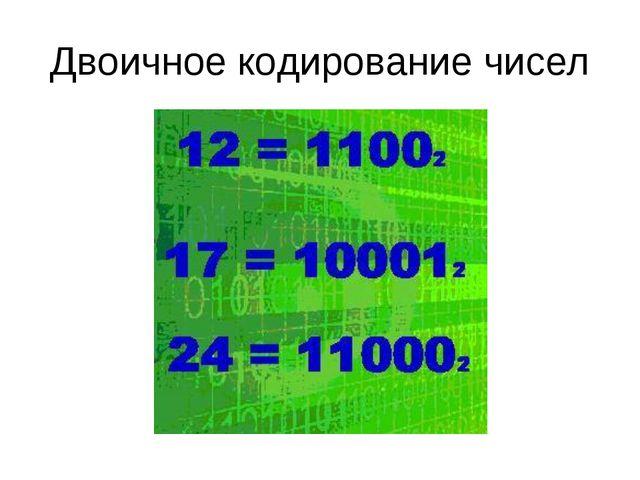 Двоичное кодирование чисел