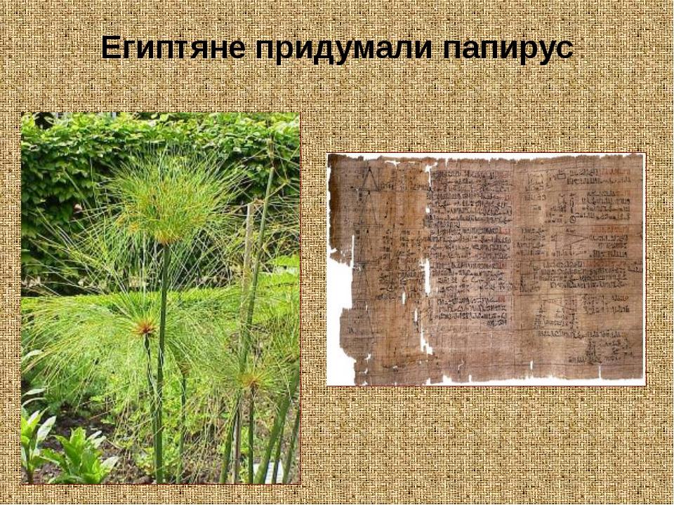 Египтяне придумали папирус