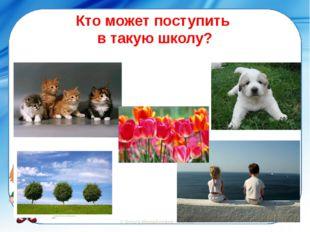 Кто может поступить в такую школу? ©Ольга Михайловна Носова