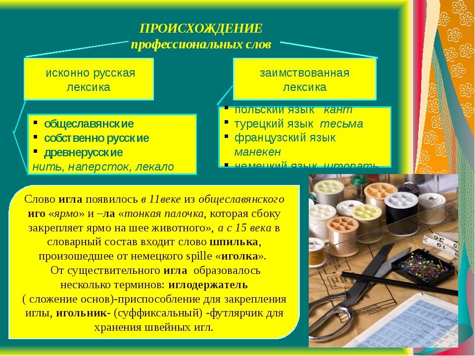 заимствованная лексика исконно русская лексика общеславянские собственно рус...