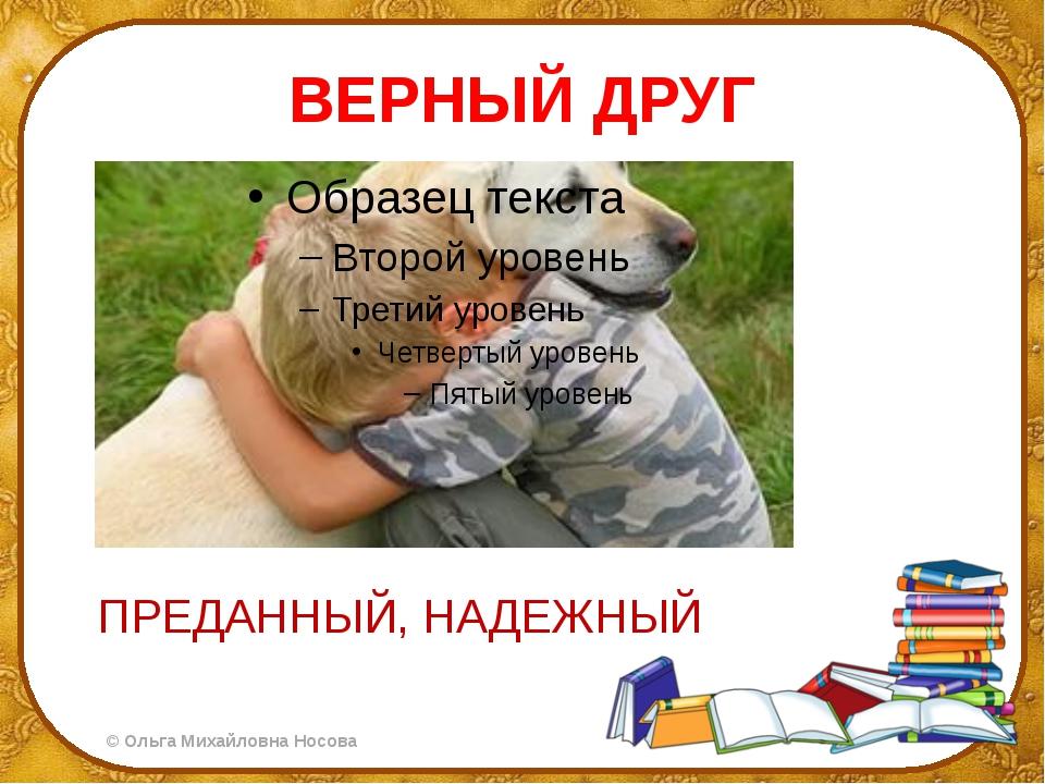 ВЕРНЫЙ ДРУГ ПРЕДАННЫЙ, НАДЕЖНЫЙ ©Ольга Михайловна Носова