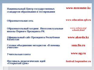 Национальный Центр государственных стандартов образования и тестирования www
