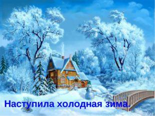 Наступила холодная зима.