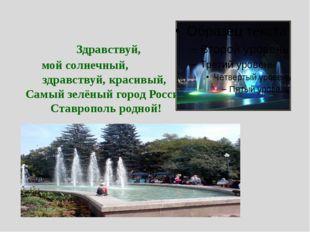 Здравствуй, мой солнечный, здравствуй, красивый, Самый зелёный город России,