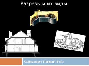Разрезы и их виды. Подготовил: Попов Р. 9 «А»