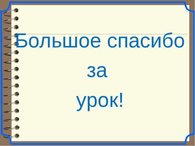 Большое спасибо за урок!