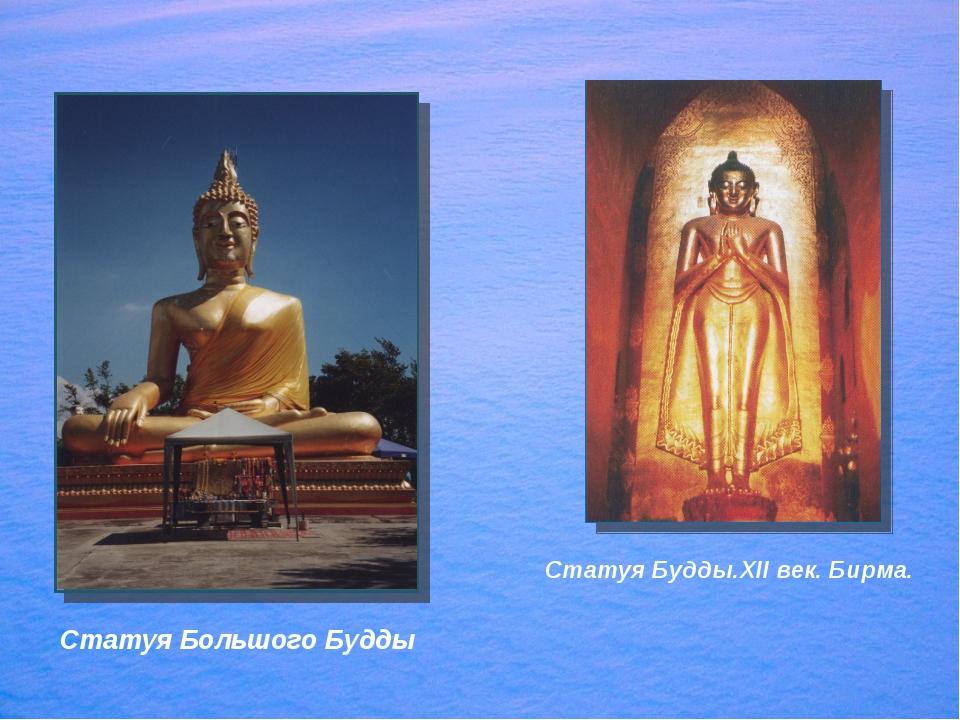 Статуя Большого Будды Статуя Будды.XII век. Бирма.