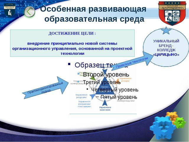 Особенная развивающая образовательная среда Практикоориентированный подход ДО...