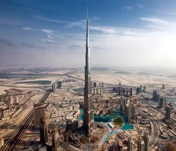 Бурдж Халифа в городе Дубай