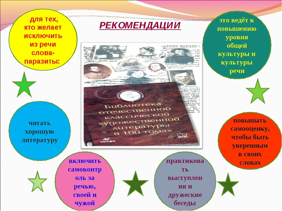 РЕКОМЕНДАЦИИ для тех, кто желает исключить из речи слова-паразиты: читать хор...