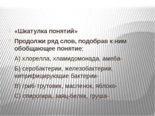 «Шкатулка понятий» Продолжи ряд слов, подобрав к ним обобщающее понятие: А) х