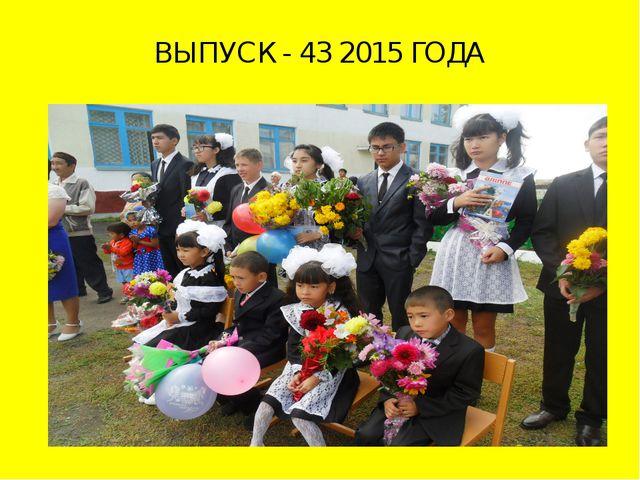 ВЫПУСК - 43 2015 ГОДА