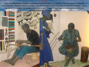 Африка Зал, посвящённый Африке знакомит посетителей с историей и бытом многих