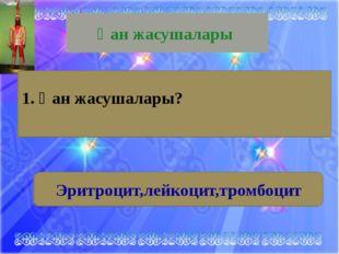 И.И.Мечников Қан жасушасы 2. Лейкоциттердің қызметін толық зерттеген атақты ф