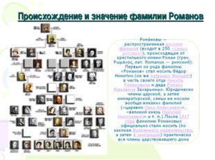 Происхождение и значение фамилии Романов