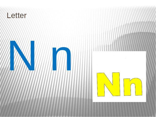 Letter N n